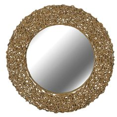 Nautical Rope Mirror Rope is woven in and out of a wire frame for the perfectly chic nautical mirror.  32 Inch Diameter