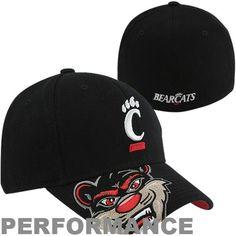 adidas Cincinnati Bearcats Mascot Visor Structured Performance Flex Hat - Black