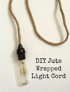 Simple InspirationsSunroom Decor InspirationDIY Jute Wrapped Light Cord Dark Accent Walls, Make Do And Mend, Black Spray Paint, Lamp Cord, Rustic White, Art Studios, Jute, Vintage Lighting