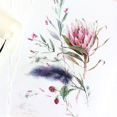 """다음 @Behance 프로젝트 확인: """"Watercolor flowers"""" https://www.behance.net/gallery/32700781/Watercolor-flowers"""
