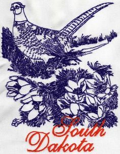 Advanced Embroidery Designs - South Dakota: Ring-Necked Pheasant