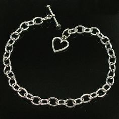 Valentine's Day  5 pcs Stainless Steel chain Love OT by jewelrygo, $4.99