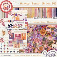 Digital Art :: Bundled Deals :: Harvest Sunset [Coordinated Collection - 8 for $8]
