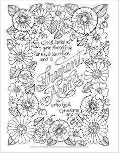 Replace Scripture With Family Name Find This Pin And More On Adult Coloring Pages