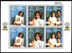 New Zealand Health 1985 Princess Diana Miniature Sheet Fine Mint SG MS 1375 Scott B1213a Other New Zealand Stamps HERE