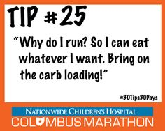 Tip #25: Eat Right The Week Before TheRace #30Tips30Days