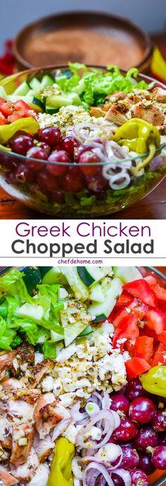 Grrek Chicken Chopped Salad | chefdehome.com