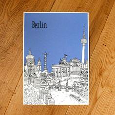 Berlin Screen Print von TessaGalloway auf Etsy