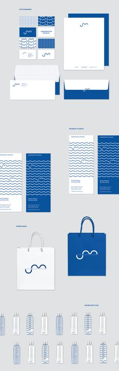 Underwater Museum Branding on RISD Portfolios Museum Identity, Museum Branding, Logo Branding, Logos, Identity Design, Visual Identity, Brand Identity, Brand Packaging, Packaging Design