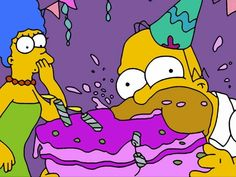 Simpsons Party, Simpsons Cartoon, Cartoon Memes, Cartoon Pics, Homer And Marge, Simpsons Drawings, Funny Profile Pictures, Birthday Pictures, Vintage Cartoon