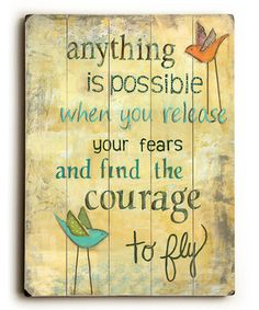 Loving this 'Anything Is Possible' Wall Art on #zulily! #zulilyfinds