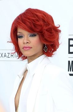 Would this work for me?http://www.gossipcelebrity.info/2011/05/24/rihanna%e2%80%99s-wavy-sexy-bob-hairstyle/