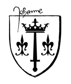 Joan of Arc's coat of arms, and -  9.3KB
