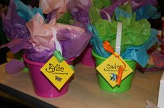 Little Mermaid  Bucket Gift Bags « peekintomyparty