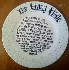 The Giving Plate ~ Pass It On!