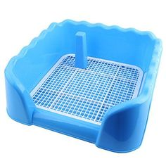 SUNLIGHTAM 20x177x59 Dog Litter Box Pan Training Tray Potty Toilet Indoor Pet House L Blue ** Read more  at the image link. (This is an Amazon affiliate link and I receive a commission for the sales and I receive a commission for the sales)