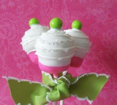 pink & green cake pops