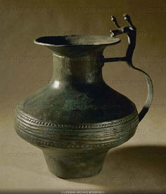 Celtic Archaeology | Bronze pitcher with bull-shaped handle from a ... | Celtic Archaeology