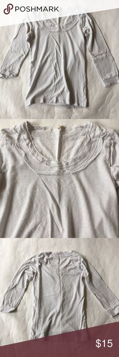 J. Crew Tissue ¾ Sleeve Tee Such a soft top. It's an ice blue (almost white but has blue undertones). Perfect for spring! Excellent condition. J. Crew Tops