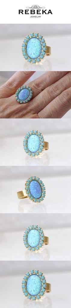 Blue Opal Ring, Blue Rings, Opal Rings, Gold Rings, Bridal Rings, Wedding Rings, Princess Cut Engagement Rings, Ring Engagement, Wedding Hair Styles