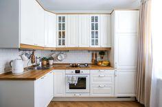 Белые кухонные гарнитуры: примеры из реальных московских квартир – Вдохновение