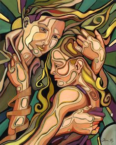 Oliver Ray - Adam and Eve Decoupage, Twin Flame Love, Twin Flames, Adam And Eve, Couple Art, Couple Pics, Bible Art, Pictures To Draw, Beautiful Paintings