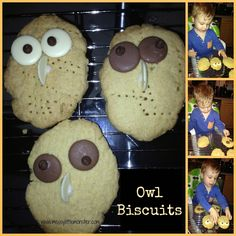 Messy Little Monster: Owl Biscuits Owl Activities, Infant Activities, Nursery Activities, Playdough Activities, Homemade Bird Feeders, Diy Bird Feeder, Baby Owls, Owl Babies, Bird Feeders For Kids To Make
