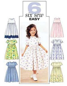 84376bd612f1 Childrens and Girls Dress Butterick Pattern 3762