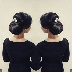 Wedding hairstyle for brown hair