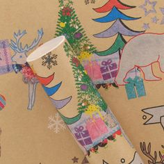 £3.50 for 3m Paperchase  hand drawn kraft