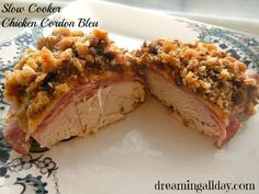 Slow Cooker Chicken Cordon Bleu | Dreaming All Day