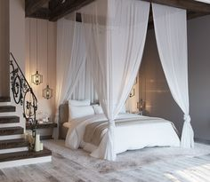 """Fabulous Romantic Bedroom Ideas You Will Love - Let me pose you one inquiry. """"How does your bedroom resemble? At that point, answer a greater amount of these: Are there such a large. New Bedroom Design, Modern Bedroom Decor, Stylish Bedroom, Bedroom Vintage, Contemporary Bedroom, Home Bedroom, Home Design, Bedroom Furniture, Master Bedroom"""
