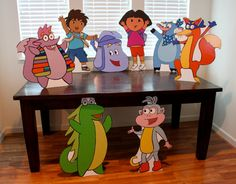 Dora the Explorer Birthday - Dora the Explorer Party - Swiper - Event Prop - Standee - Character cut out - Yard Display - Wall Decor
