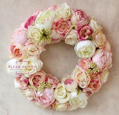 Faux flower wreaths by Bluer Design from Hungary