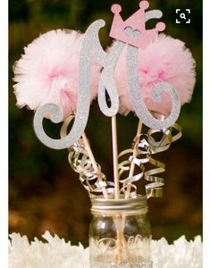 Baby Shower Decorations / Princess Party Decorations/ Pink and Silver Party/ Girl Baby Shower/ First Birthday Photo Prop Centerpiece - Baby Shower Baby Girl Centerpieces, Princess Party Decorations, Baby Shower Decorations, Princess Centerpieces, Centerpiece Table, Centerpiece Decorations, Paris Party Decorations, Baby Decor, Nursery Decor