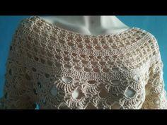 Voglia di primavera, e con essa la voglia di lavorare con dei filati leggeri, ed ecco una bellissima maglia realizzata all'uncinetto con 400 gr di cotone fil...