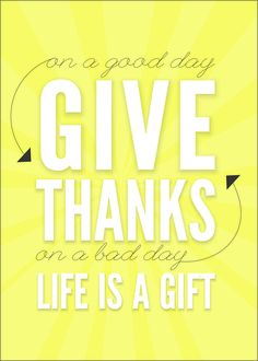 Give thanks! Today so very thankful for the Cross and the gift of eternal life!
