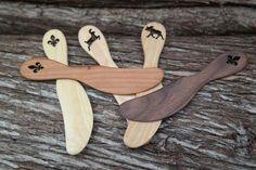 Couteau à beurre à motif découpé - Couteau à beurre Québec - Couteau à beurre Canada - Spatule à étendre - couteau à beurre suédois - Produits fabriqués au Québec par Atelier Unik-Art