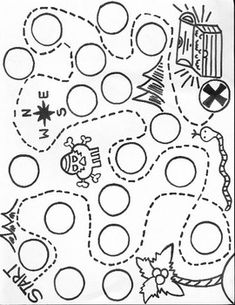 Treasure Map- Fill in the circles with letters or numbers to create a matching game or roll and cover game Treasure Hunt Map, Treasure Maps For Kids, Treasure Games, Pirate Treasure Maps, Pirate Maps, Pirate Theme, Pirate Preschool, Pirate Activities, Pirate Crafts