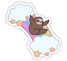 Rainbow Cloud Sloth Sticker