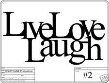 DXF File Live Laugh Love #2 CNC Plasma Laser Wall art dxf Vector cnc