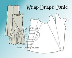 Studio Faro Wrap Drape Tunic, pattern puzzle #sydney #marrickville