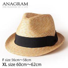 (Beige×Black/XL)ANAGRAM/アナグラム/ストローハット/中折れハット/麦わらハット/麦わら帽子/メンズ/レディース/大きいサイズ/帽子 ANAGRAM(アナグラム), http://www.amazon.co.jp/dp/B00CQZ4FNA/ref=cm_sw_r_pi_dp_NCSPrb04TSK17