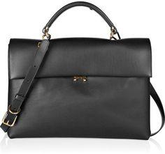 747ebc522c6496 marni tote Black Tote Purse, Black Leather Tote, Leather Purses, Leather  Handbags,