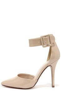 My Delicious Aveta Dark Beige Patent Ankle Strap Heels at http://www.coupon4free.com/stores/lulus-com/