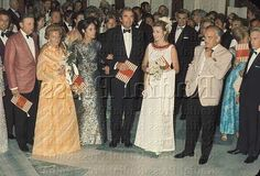 In Monte-Carlo on August 8, 1969, the American actor Gregory Peck and his wife Veronique attended at the Red Cross Ball given by Prince Prince and Princess Grace.