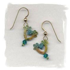 Sweet Hearts (aqua-olive-gold). $20.00, via Etsy.