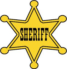 Sheriff badge graphic, free clip art of wild west star sheriff badge for western cowboy crafts and costumes. Toy Story Room, Toy Story Theme, Toy Story Party, Toy Story Birthday, Cowboy Birthday, Cowboy Party, Cumple Sheriff Callie, Imprimibles Toy Story, Sheriff