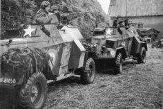 Humber Light Reconnaissance Cars Mk IIIA of No. 2806 Armoured Car Squadron RAF Regiment near Eindhoven, the Netherlands, 1944-1945