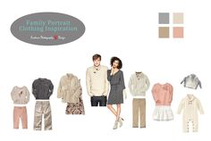 Clothing Inspiration | Soft color palette for family portraits | Evidence Photography and Design